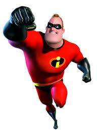 Mr. Incredible, trademark and copyright Disney-Pixar.