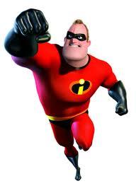 Mr. Incredible, trademark and copyright Disney-Pixar.