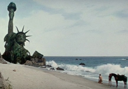destroyed Statue of Liberty