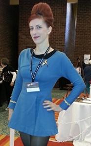Emily Finke in Star Trek costume