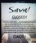 Sava's closed note