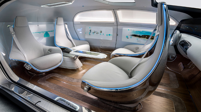 Daimler F015 concept car interior