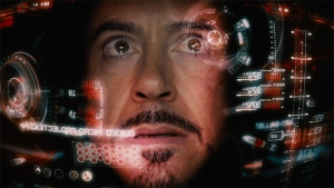 The Jarvis heads-up display inside Iron Man